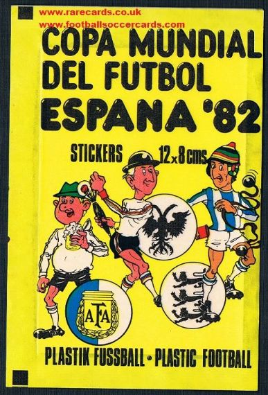 1982 sealed WC82 stickers wrapper German